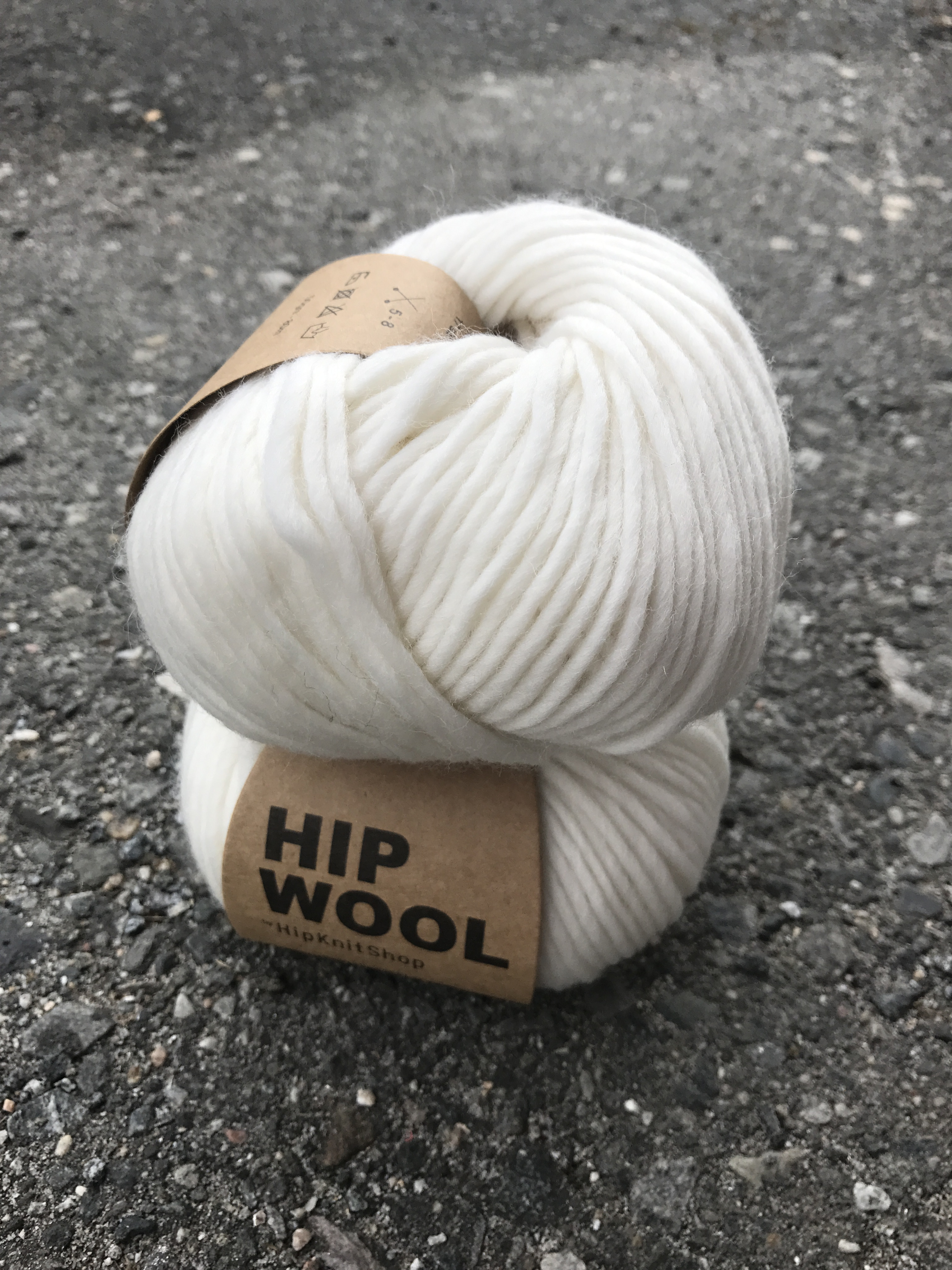 Hip Wool - Dancing Snowflake White