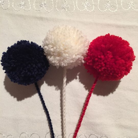 Pom-poms for the Norway Hat